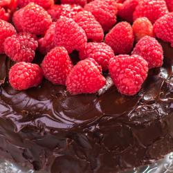 Raspberry Chocolate Truffle Cake