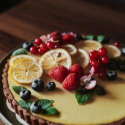 Chocolate Crsuted Lemon Tart