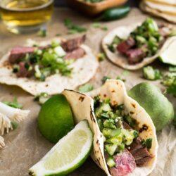 Steak Avocado Soft Tacos